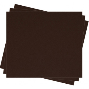 Pochette feutrine Brun chocolat 0186 (x12 coupons)
