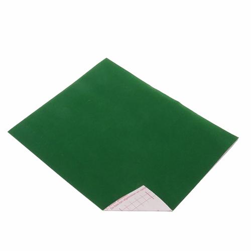 Coupon Velours Adhésif Vert