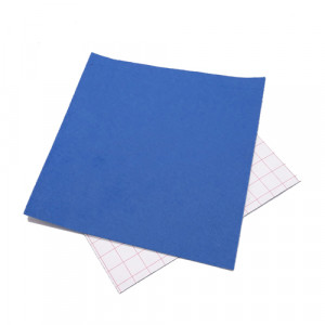 Coupon feutrine adhésive Bleu 0152