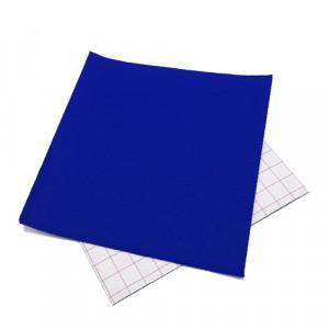 Coupon feutrine adhésive Bleu roi 0560