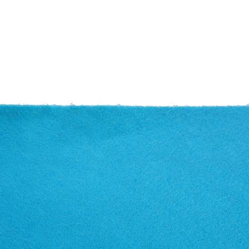 Coupon feutrine adhésive Bleu Outre Mer 0157