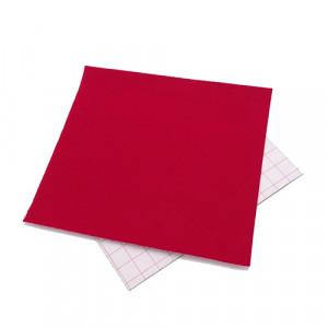 Coupon feutrine adhésive Rouge bordeaux 0128
