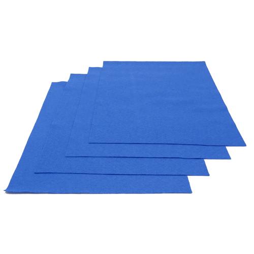 Pochette feutrine Bleu 0152 (x12 coupons)