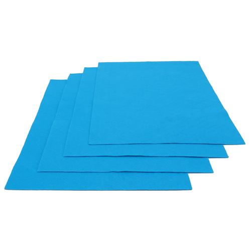 Pochette feutrine Bleu outre-mer 0157 (x12 coupons)