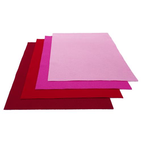 Nuance de feutrine Rouge (x4)