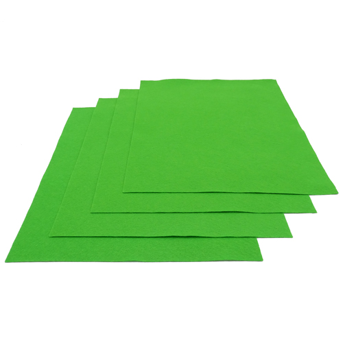 Pochette feutrine Vert gazon 0168 (x12 coupons)