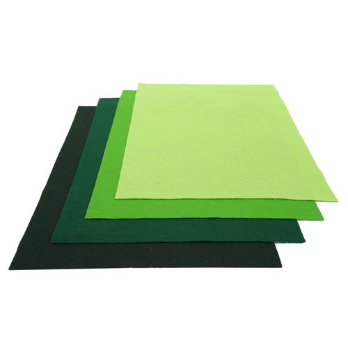 Nuance de feutrine Verte (x4)