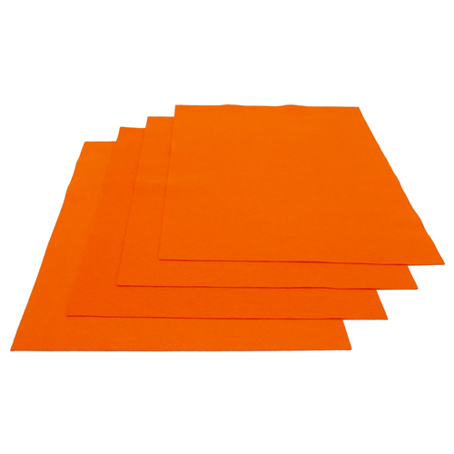 Pochette feutrine Orange 0123 (x12 coupons)