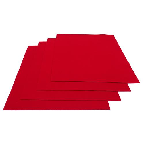 Pochette feutrine Rouge 0126 (x12 coupons)