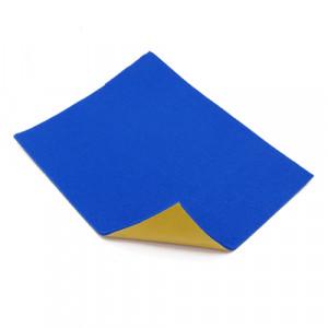 Coupon feutrine épaisse adhésive 3mm, Bleu 0153