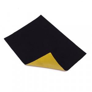 Coupon feutrine épaisse adhésive 3mm, Noir 0148