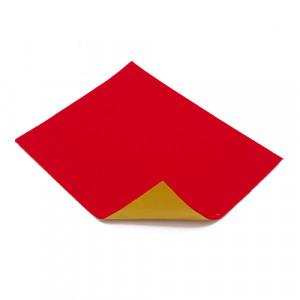 Coupon feutrine épaisse adhésive 3mm, Rouge 0126