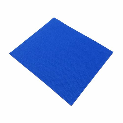 Coupon feutrine epaisse 3mm, bleu 0153