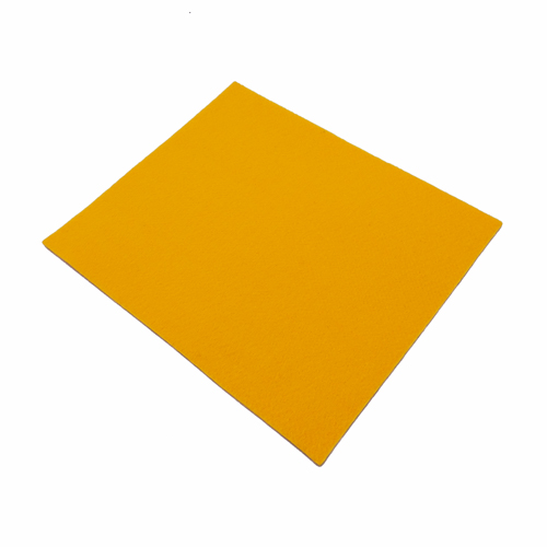 Coupon feutrine epaisse 3mm, Jaune d'Or 0119