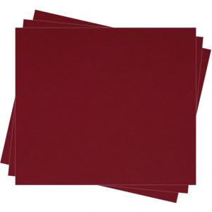 Pochette feutrine Rouge bordeaux 0128 (x12 coupons)